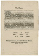 [Proclamations. 1603-09-17] By the King. A proclamation for the due and speedy execution of the statute against rogues, vagabonds, idle, and dissolute persons.