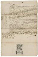 Letter signed (draft) from Sir Henry Herbert, London, to Mr. Michaell Mohan [manuscript], 1660 October 13.