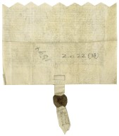 Apprenticeship indenture from John Turke to Edward Fisher, citizen and alderman of London, master skinner, and merchant adventurer of England [manuscript], 1594 April 24.