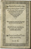 [Litle treatise, conteyning many proper tables and rules] A brief treatise conteinyng many proper tables, and easie rules, verye necessarye and nedefull, for the vse and co[m]moditie of al people, collected out of certaine learned mens workes. The contentes whereof, the page that followeth doeth expresse.