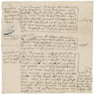 Carowe, John. Bill of John Carowe for work 1555 to 1558. To Revels office.
