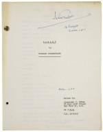 Typed script of Richard Burton's Hamlet / directed by John Gielgud.