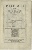 [Poems. Selected poems] Poems: by Michael Drayton Esqvire. Viz. The barons warres, Englands heroicall epistles, Idea, Odes ...