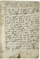 Notes of two sermons preached by Mr. Véron, the first at Great All Hallowes, [London] [manuscript], 1559/60 March 8.