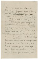 Autograph letter signed from Stéphane Mallarmé, Paris, to Arthur W.E. O'Shaughnessy