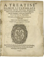 A treatise named Lucarsolace : deuided into fovver bookes, which in part are collected out of diuerse authors in diuerse languages, and in part deuised / by Cyprian Lucar, gentleman.