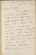 Autograph letters to Clement Mansfield Ingleby signed from various correspondents [manuscript], 1853-1881.