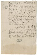 Suffolk, Henry Grey, Duke of. Letter. To Sir Thomas Cawarden. Tower of London.