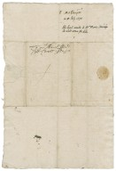 Southampton, Henry Wriothesley, Earl of. Letter. To William More. London.
