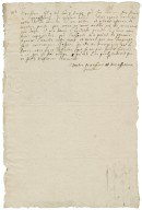 More, Sir Poynings. Letter. To an unidentified person.