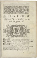 The historie of twelue Cæsars emperors of Rome. Written in Latine by C. Suetonius Tranquillus: and newly translated into English by Philemon Holland Doctor in Phisick. Together with a marginall glosse and other briefe anotations therevpon.