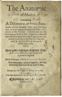 [Anatomie of abuses. Part 1] The anatomie of abuses: containing a discouerie, or briefe summarie of such notable vices and corruptions, as nowe raigne in many Christian countreyes of the worlde ...