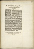 [Liturgies. Special forms of prayer (General, 1599)] A prayer for the good successe of her Maiesties forces in Ireland.
