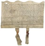 Agreement of Sybil de Fulthrep and Sir William de Haryngton with Sir John de Assheton and Robert del Shagh [manuscript], 1406 March 20.