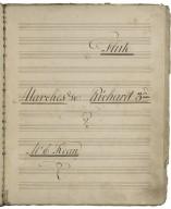 Incidental music for Richard III [manuscript]