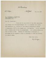 Letter to Alexander Trowbridge, February 18, 1930