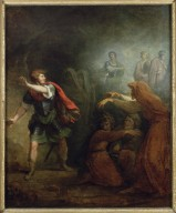 Macbeth and the witches [graphic]
