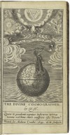 The divine cosmographer; or, A brief survey of the whole world, delineated in a tractate on the VIII Psalme: by W. H. sometime of S. Peters Colledge in Cambridge.