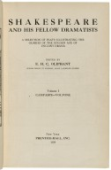 Shakespeare and his fellow dramatists; a selection of plays illustrating the glories of the golden age of English drama, edited by E. H. C. Oliphant ...