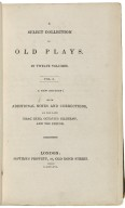 A Select collection of old plays : In twelve volumes ...