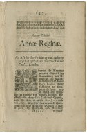 At the Parliament begun at Westminster the twentieth day of August, Anno Dom. 1702.