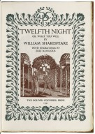 Twelfth night or, What you will by William Shakespeare ; with engravings by Eric Ravilious.