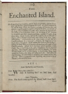 The tempest, or The enchanted island. : A comedy as it is now acted at His Highness the Duke of York's Theatre.