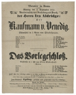 Collection of playbills from the Theater in Bonn, 1851-1852.