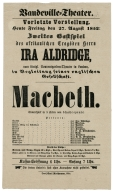 Playbill from the Vaudeville-Theater, Köln, Germany, 1852.