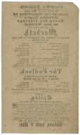 Playbill from the Königliches Hoftheater, Dresden, Germany, 1853.