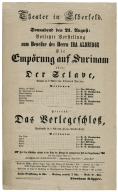 Collection of playbills from the theater in Elberfeld, Germany, 1852.