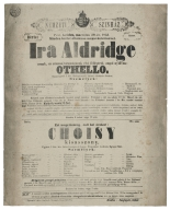 Playbill from the Stadt-Theater, Posen, Germany, 1853.