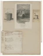 A collection of engravings, original drawings, newspaper clippings and ms. notes concerning the early London theaters.