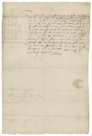 Letter signed Marie R, Edinburgh, to William Keith, Earl Marischal of Scotland [manuscript],