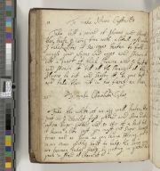 Culinary and medicinal recipe book [manuscript] : manuscript, between circa 1695 and circa 1720.
