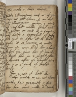 English 17th century manuscript book of recipes, remedies and household notes [manuscript]
