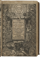 The Holy Biblecontaining the Old Testament and the New. Newly translated out of the originall tongues, and with the former diligently compared and revised, by his Maiesties speciall commandement. Appointed to be read in churches.