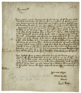 Autograph letter signed from Edmund Bohun to an unnamed Reverend Dr.
