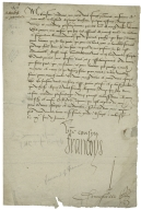 Letter signed from Francis I, King of France, Amboise, to the Dowager Duchess of Savoy, Margaret of Austria