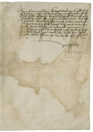 Letter signed from Anthony Denny to Mr. Stanhope, governor of Kingston-upon-Hull