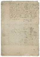 Autograph letter signed from Edward Bacon to Nathaniel Bacon, Cockthorpe