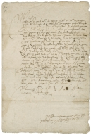 Letter signed from Jacques de Goyon, Comte de Matignon, Bordeaux, to M. de la Hillure, at Bayonne