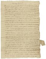 Autograph letter signed from Thomas Sessitti, Exeter, to Bartholomew de Barnarde Corsini, London