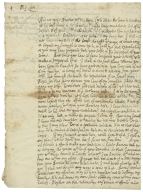 Autograph letters signed from Sir Christopher Yelverton, Easton Maudit, to Edward Montagu, Earl of Manchester
