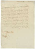 Letter signed from James I, King of England, Theobalds, to Frederick I, King of Bohemia and Elector Palatine
