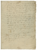 Autograph letter signed from William Cecil, Baron Burghley, to Robert Dudley, Earl of Leicester