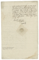 Letter signed from Sophia, Queen, consort of Frederick II, King of Denmark and Norway, Kolding, to Queen Elizabeth I, Queen of England