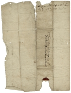 Autograph letter signed from Sir George Radcliffe to Anne Radcliffe, Overthorpe in Thornhill
