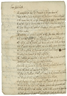 Autograph letter from Thomas Wentworth, Earl of Strafford, to Sir George Radcliffe