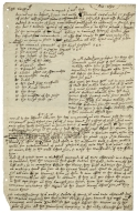 Letter (draft) concerning order of processions